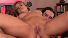 Perky Tyla Wynn blows him before he has fun drilling both holes and her going ATM