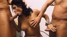Stud Evan Denzil is joined by tranny tramp Fernanda Barros and Lu