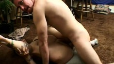 Chubby granny gets slammed real good by her hung husband's dick