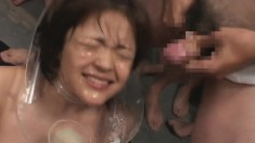 Sweet Japanese girls welcome heavy loads of hot semen on their faces