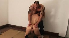 Lovely young man getting his anal hole banged rough by an older guy