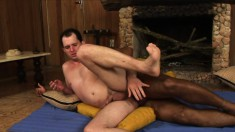 Eduardo Flores and Mateus Axel satisfy their sexual urges on the floor
