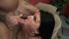 Divine brunette mom with big hooters Kendra Secrets gets nailed deep