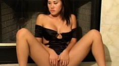 Kalea Li does some hot posing showing all those good parts to play with