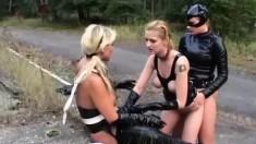 Wild Babes Tanya, Claudia And Budrina Fulfill Their Fantasies Outside