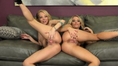 Aaliyah and Alexis are blonde babes who love pussy as much as dick