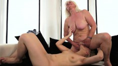 Busty Blonde Mom Wants Nothing More Than Fulfilling Her Lesbian Needs