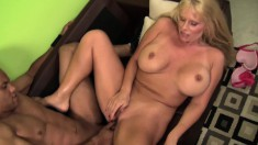 Buxom mom Karen Fisher is craving for a black cock and a deep fucking
