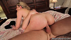 Cory Chase makes sweet sounds while she gets fucked by her co-star