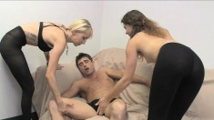 Rene Phoenix And Mary Jane Working Their Gifted Hands On A Hard Stick