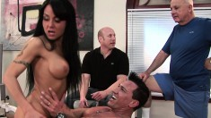 Delightful Brunette Wife Gets Her Needy Holes Worked Out By A Stranger