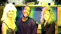 Sexy Vintage Interracial Threesome