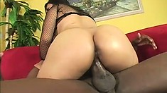Asian hottie with a sweet ass and perky tits reveals how much she loves black cock