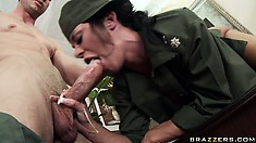 After he eats her up, she gets down and starts munching on his rod