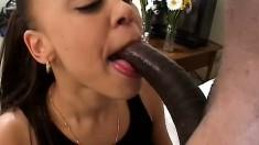 Ebony beauty Mone Divine finds intense pleasure in a huge black stick