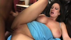 Slutty busty wife wants to get fat black cock in her soaked puss