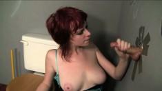 Cute ginger-head female Zoey Nixon gets drowned in tasty jism