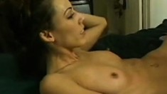 Mature blonde babe seduces a barely legal brunette into fucking