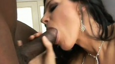A lonely housewife opens her legs for a big black cock to enter