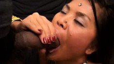 Indian girl gets dicked one at a time and drilled, then gets two facials