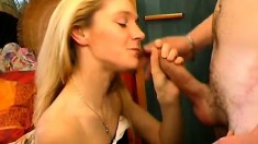 Frisky Blonde Tart Loves Having A Dick In Her Mouth While Getting Fingered