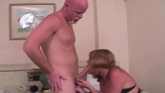 Lusty shemale Malina gets into a hot fucking session with a bald stud
