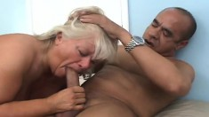 Chubby Blonde Mature Lady Has A Black Stud Fulfilling Her Sexual Needs