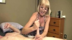 Kinky Blonde Granny Scarlet Offers Young Stud William A Helping Hand