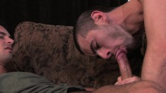 Jake Steel gives Donny Wright head before getting his ass nailed