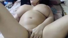Mature BBW enjoys solo masturbation