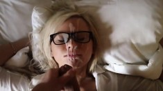 Blonde blowjob for facial