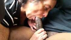 Amateur Granny Ingesting a dick that is black