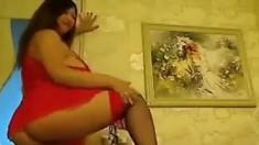 Asian red lingerie fetish