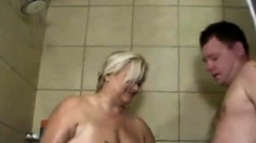 Fat Woman With Mega Tits Bathroom Sex