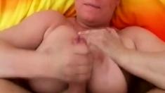 Milf With Awesome Mammaries Works A Big Uncut Dick