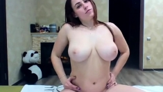 Amateur Redhead With Natural Boobs Fucked In The Backroom