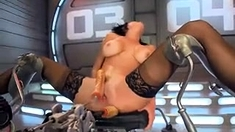 Home solo milf Lillian with big toys