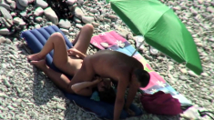 Voyeur On Public Beach Cook Jerking And Oral Sex Stimulation