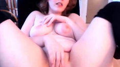 Plump Redhead With Delicious Forms N Certified Hips Cums