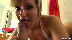 She wants you to scrutinize her anus while she's riding cock with her pussy