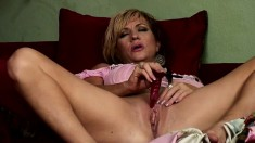 Cheating MILF gets at it with big black dudes when her hubby's away